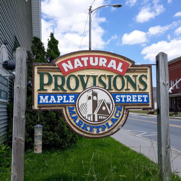 Natural Provisios' Marketplace Sign
