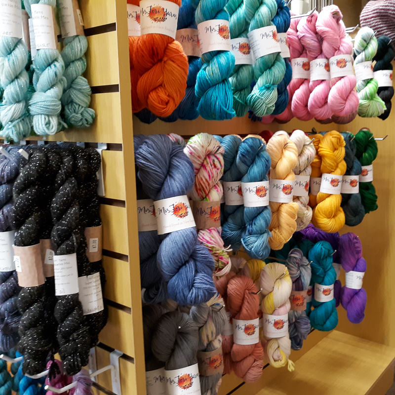 Mis Tori Yarns are sold exclusively at The Yarn Bank