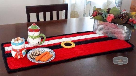 Santa Table Runner Free Crochet Pattern