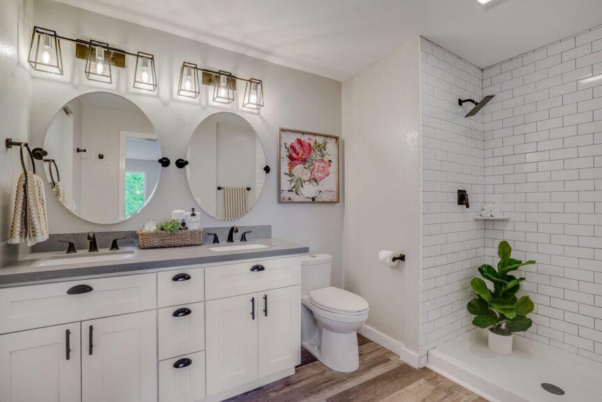 Lynnwood bathroom remodeler recommends plants in bathroom decor