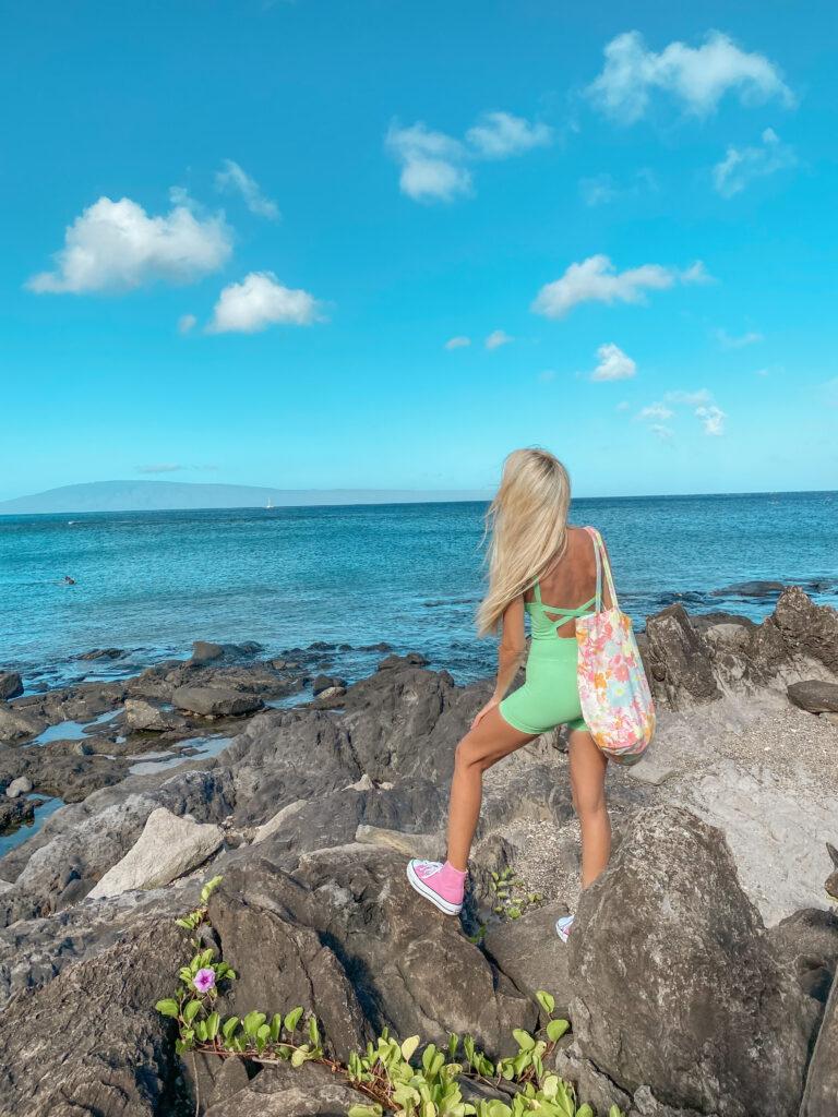 Kapalua Coast trail Kapalua Bay Maui Hawaii Hiking , Hikes, Kid friendly Hikes Maui Beaches , Best Maui Hikes Free People Good Karma Runsie