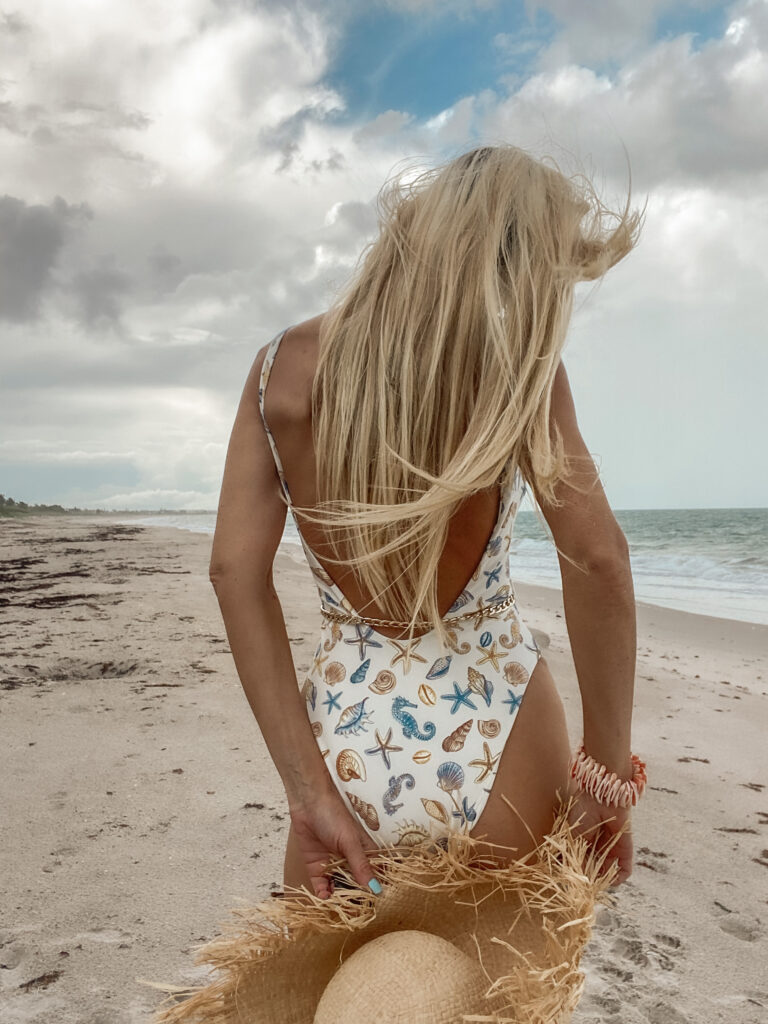 REVOLVE Lovers + Friends shell print swimsuit