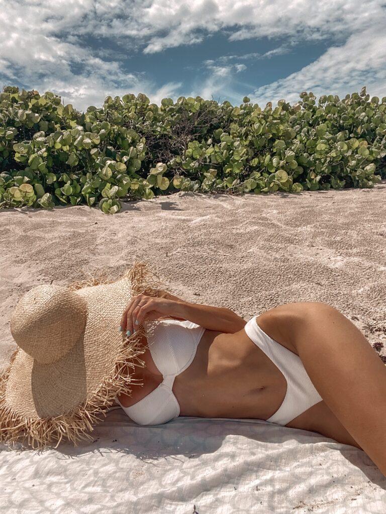 Revolve Lovers + Friends White Bikini
