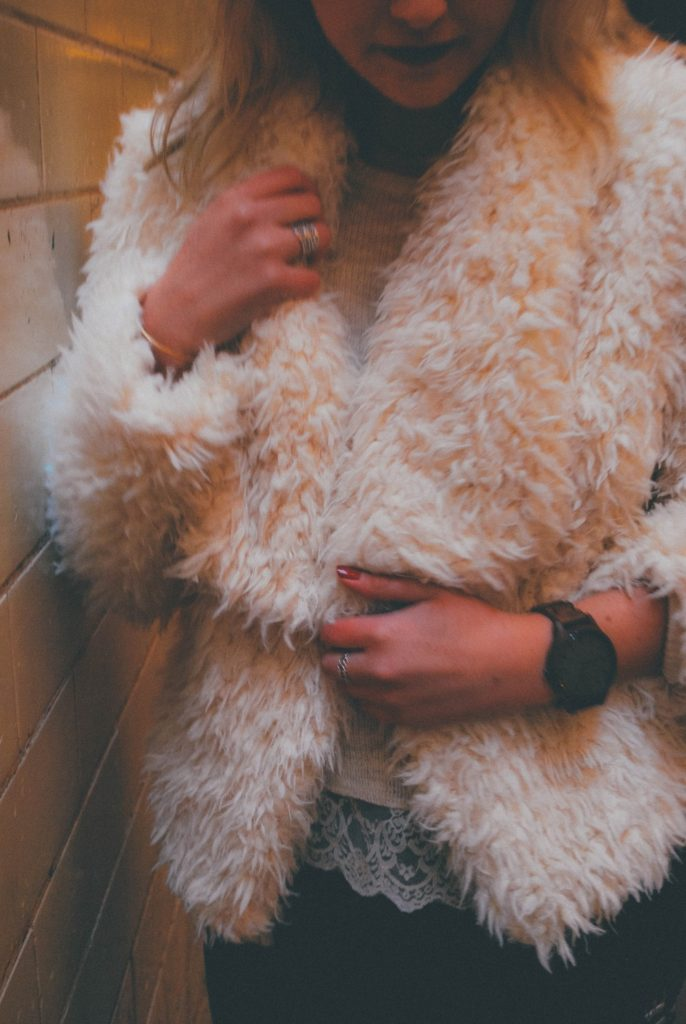 White Faux Fur Coat for the Winter Months