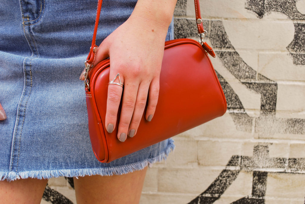 Red Handbag to Add Some Pop to Your Outfit