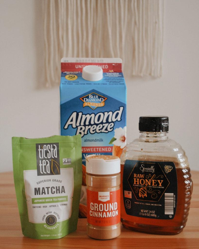 Ingredients for matcha tea