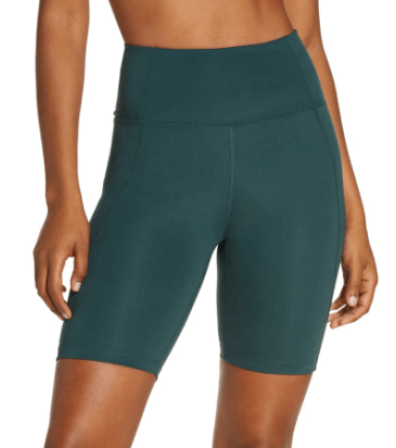 Biker shorts are in, to wear at home or on the go