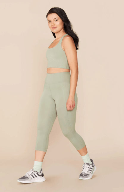 Matching activewear sets can be a great confidence booster, even when exercising at home