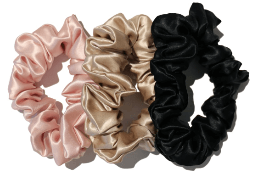 Pink, Gold and Black Scrunchies
