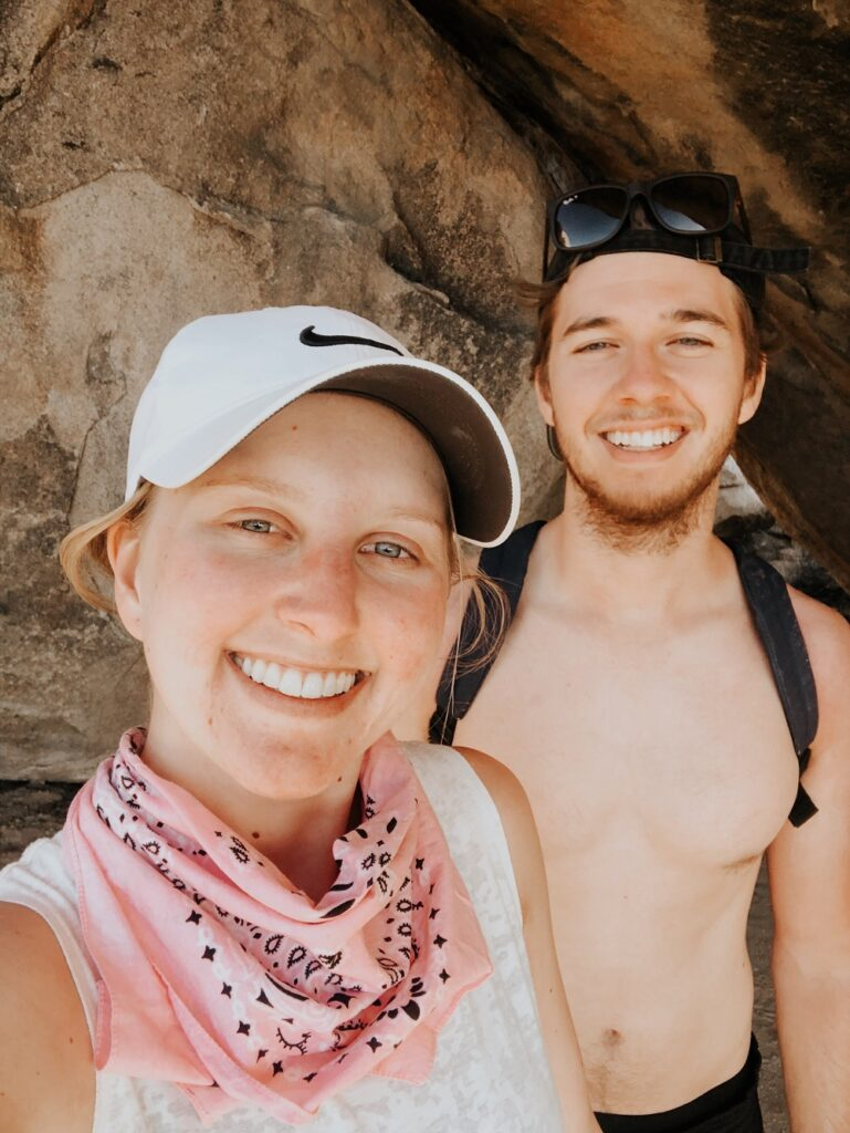 Young Couple in Joshua Tree National Park