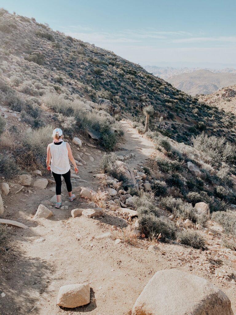 Hiking Down the Ryan Mountain Trail