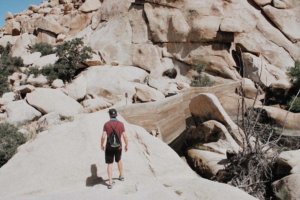 Hiking the Barker Dam Trail