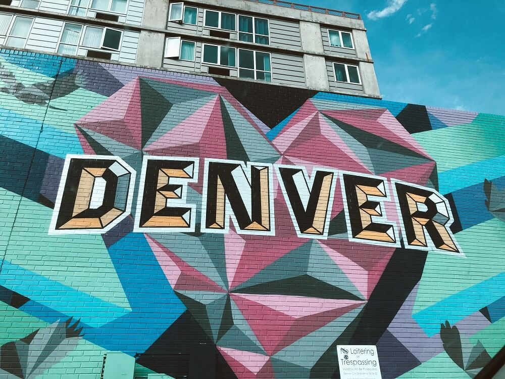 Wall mural and street art in Denver Colorado