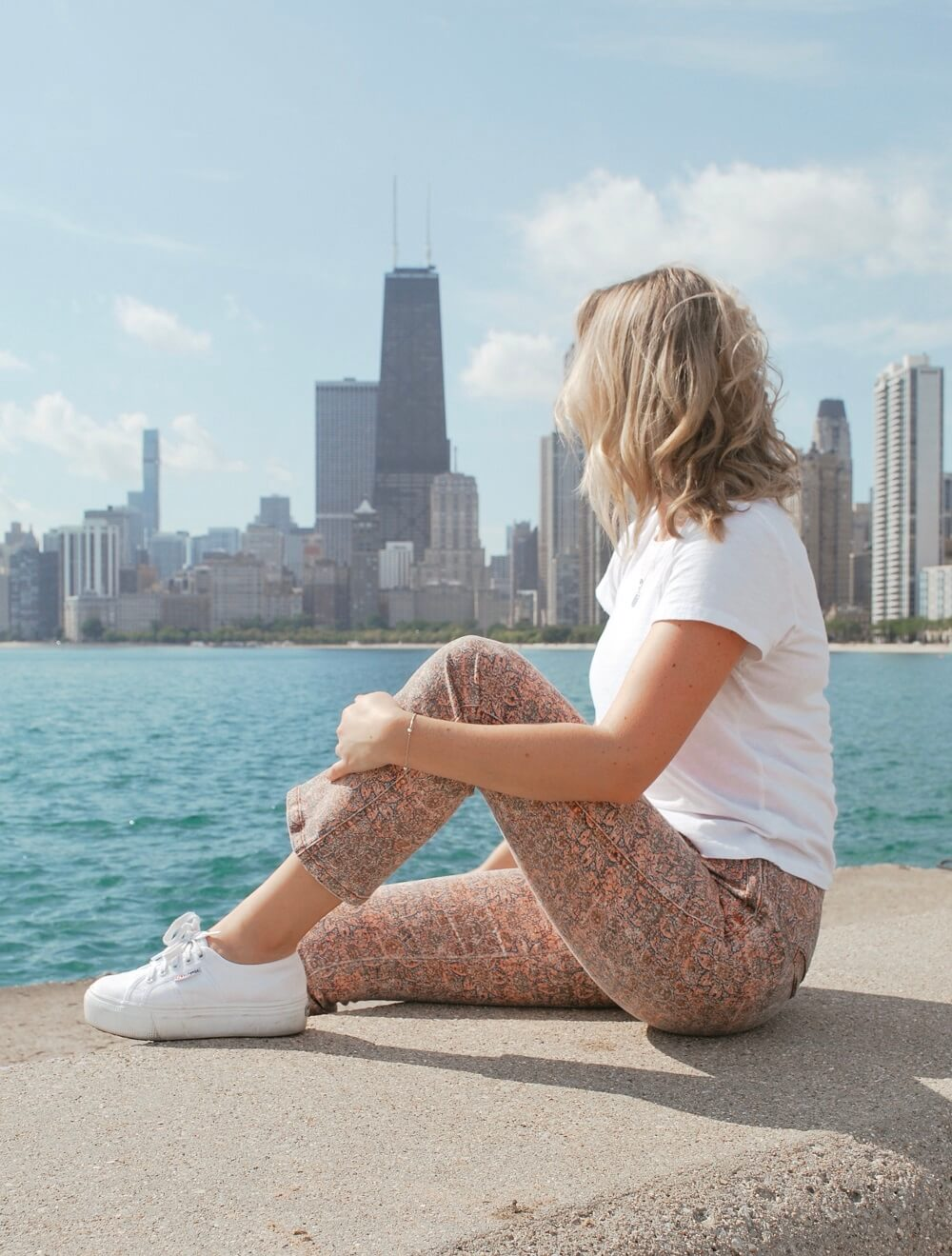 Gazing out at the Chicago skyline