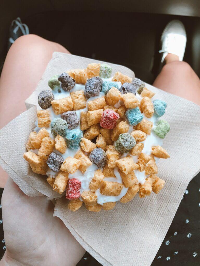 Voodoo Doughnuts Captain Crunch doughnut to cap the Colorado Trip