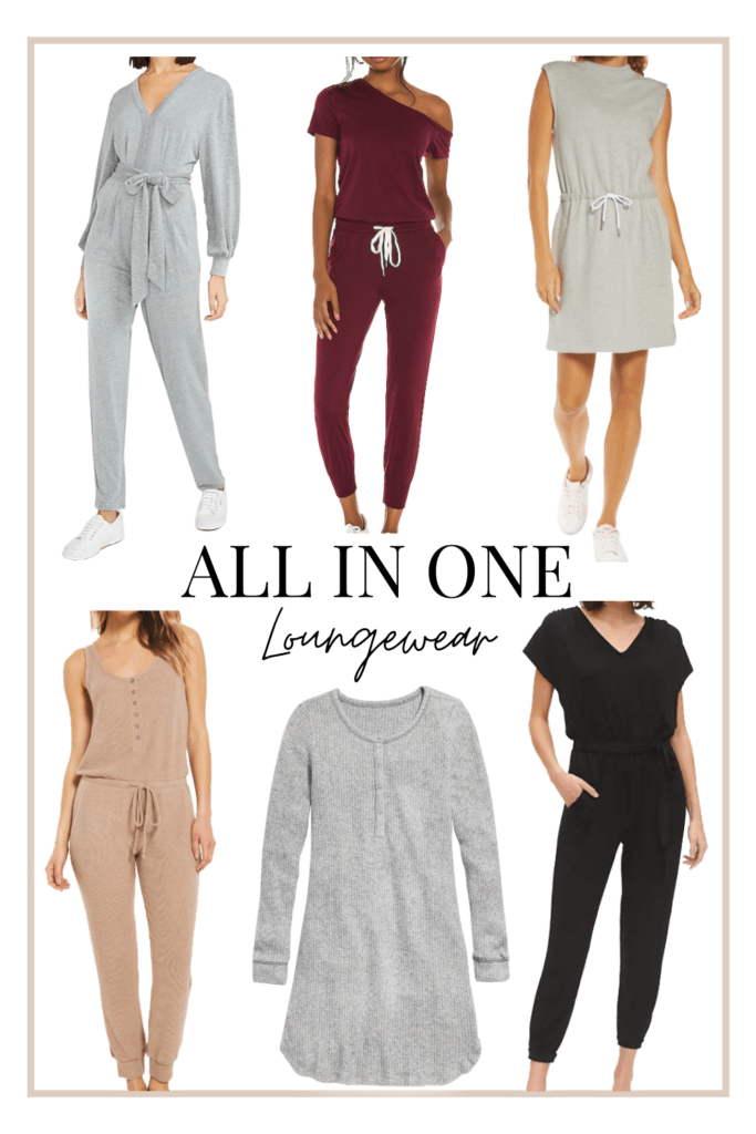 Comfy all in one loungewear outfits for women this winter