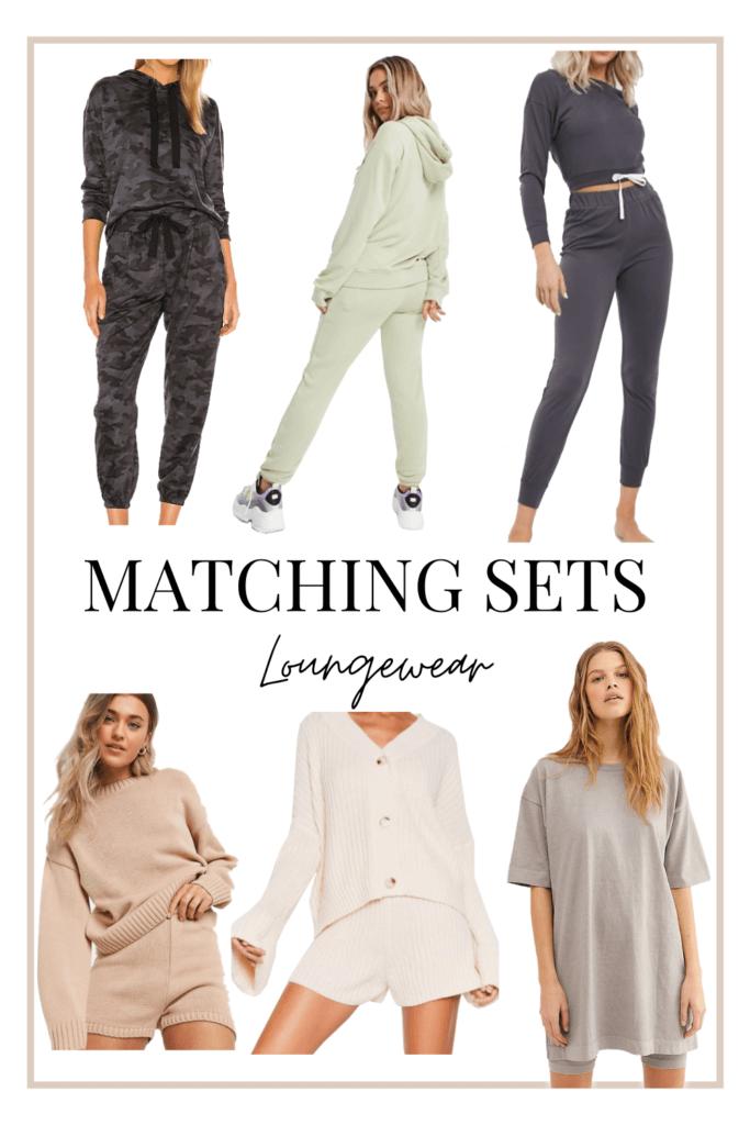 6 matching comfy winter loungewear sets for women