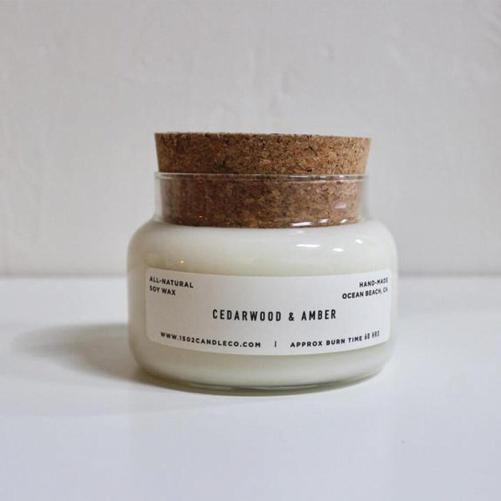 1502 candle companies cedarwood amber soy candle