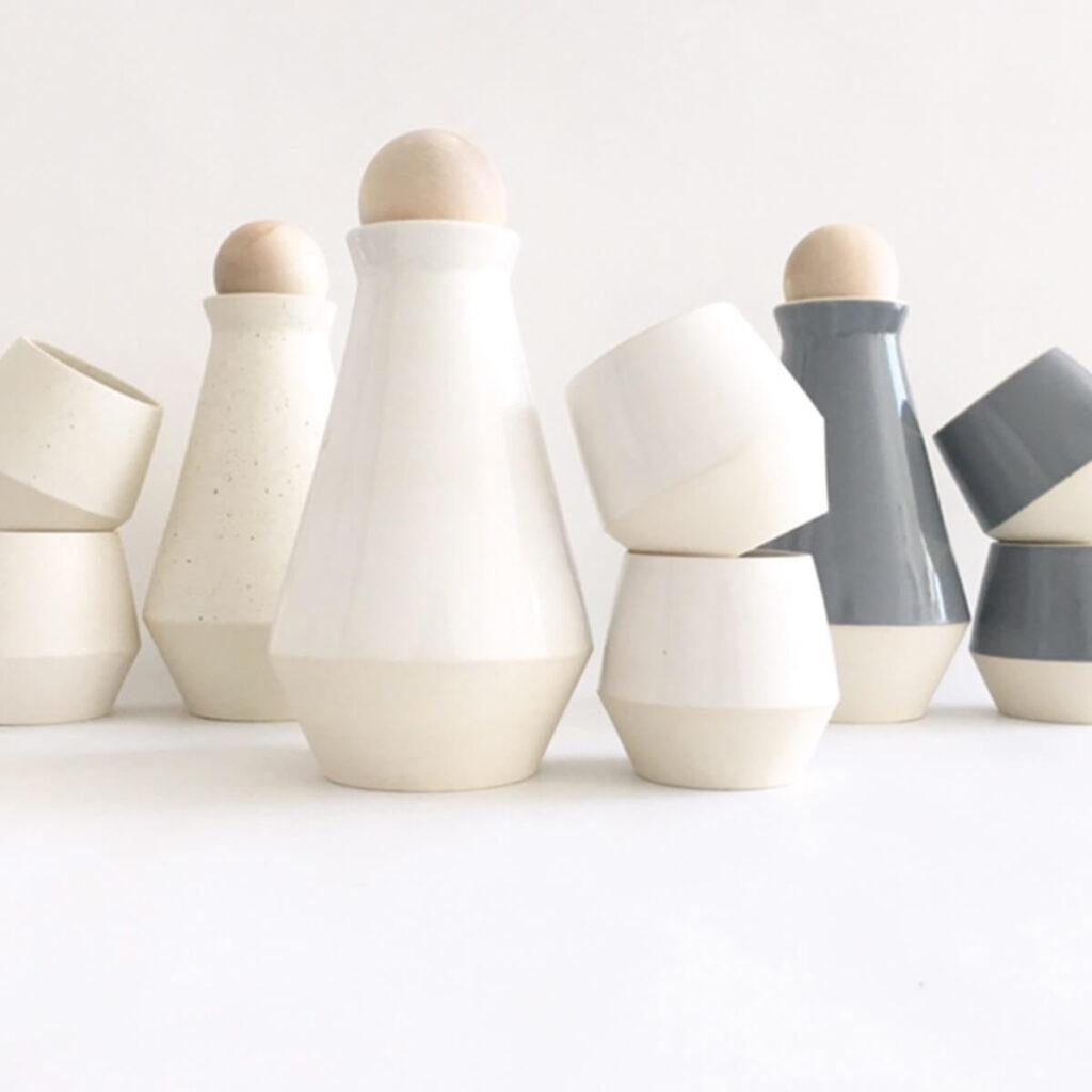 Clay and Craft modern drinkware carafe set