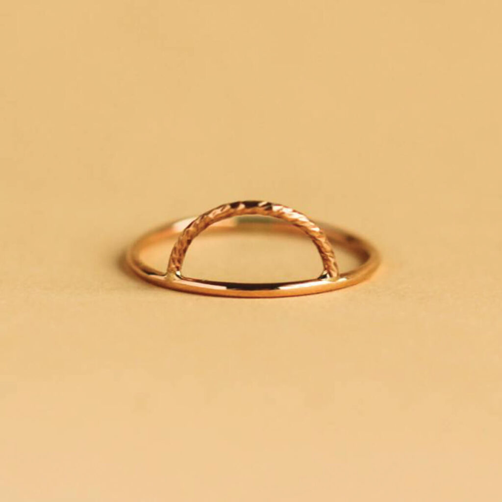 Everly Made jewelry lenora sun gold ring