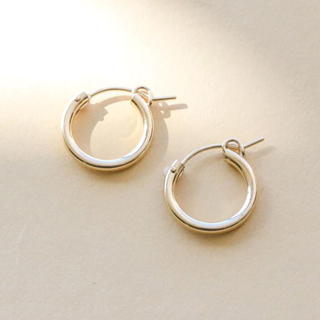 Sidney hoop earrings, jewelry by Everly Made in San Diego