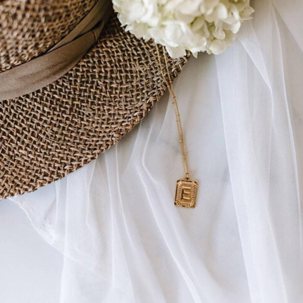 Goldy Club custom initial pendant necklace