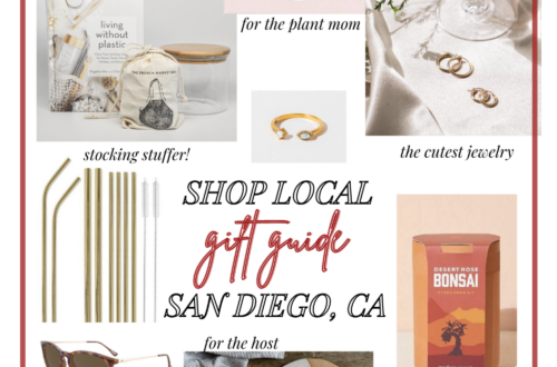 Shop small shop local San Diego holiday gift guide 2020 collage