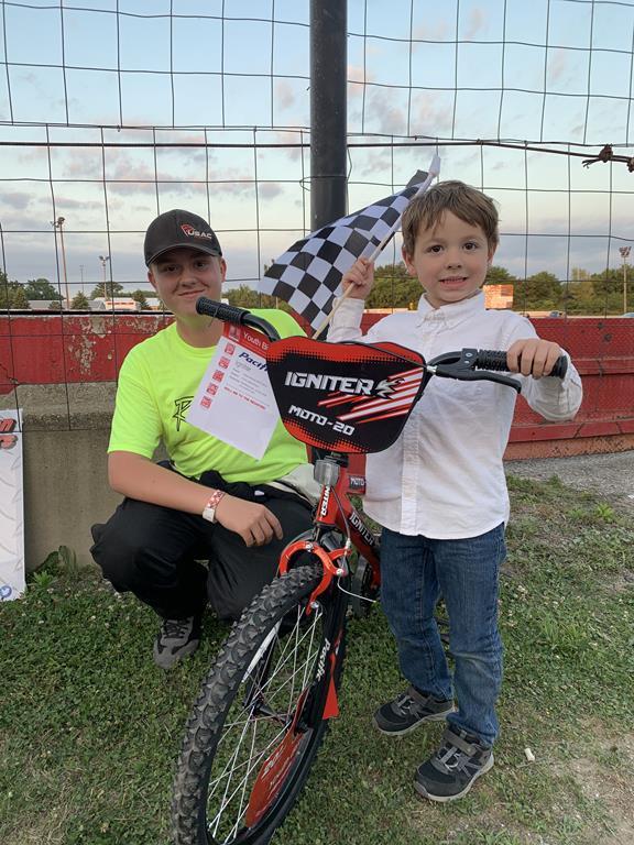 Adkins Glass Bike winner - Vinnie!