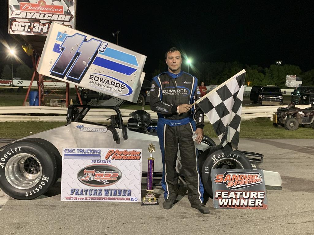 Kyle Edwards tops the field @ Sandusky Speedway - Jim Davidson photo