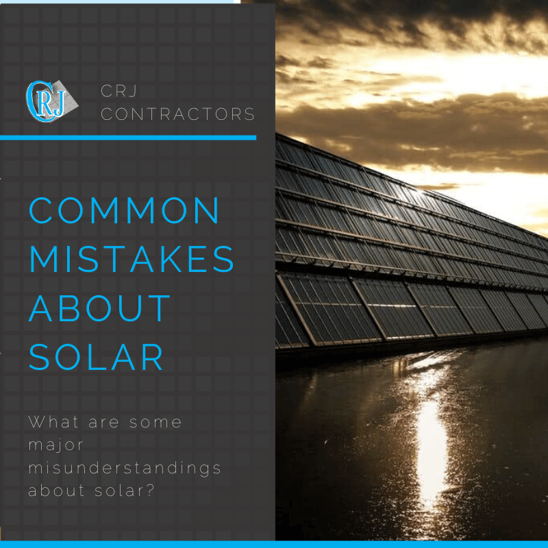 featured photo showing common misunderstandings about solar energy