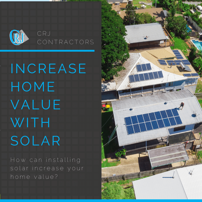 featured photo showing how solar panels increase home value