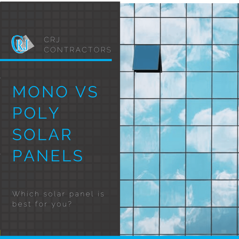 featured photo showing monocrystalline versus polycrystalline solar panels