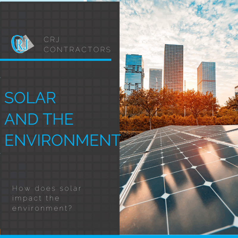 featured photo showing how solar impacts the environment