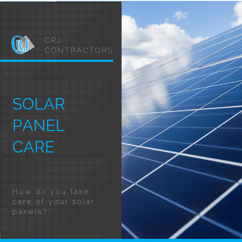 featured photo showing solar panel care and maintenance