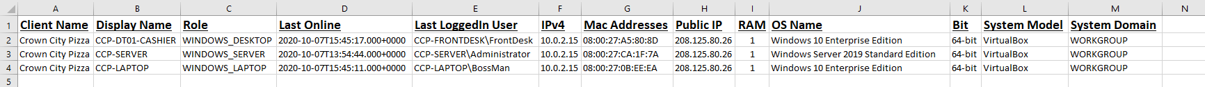 P1 MSP Advanced Device Information & Reports