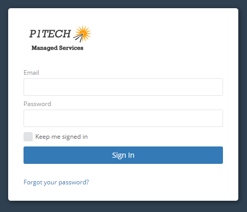 MSP Managed Service Client Login Portal