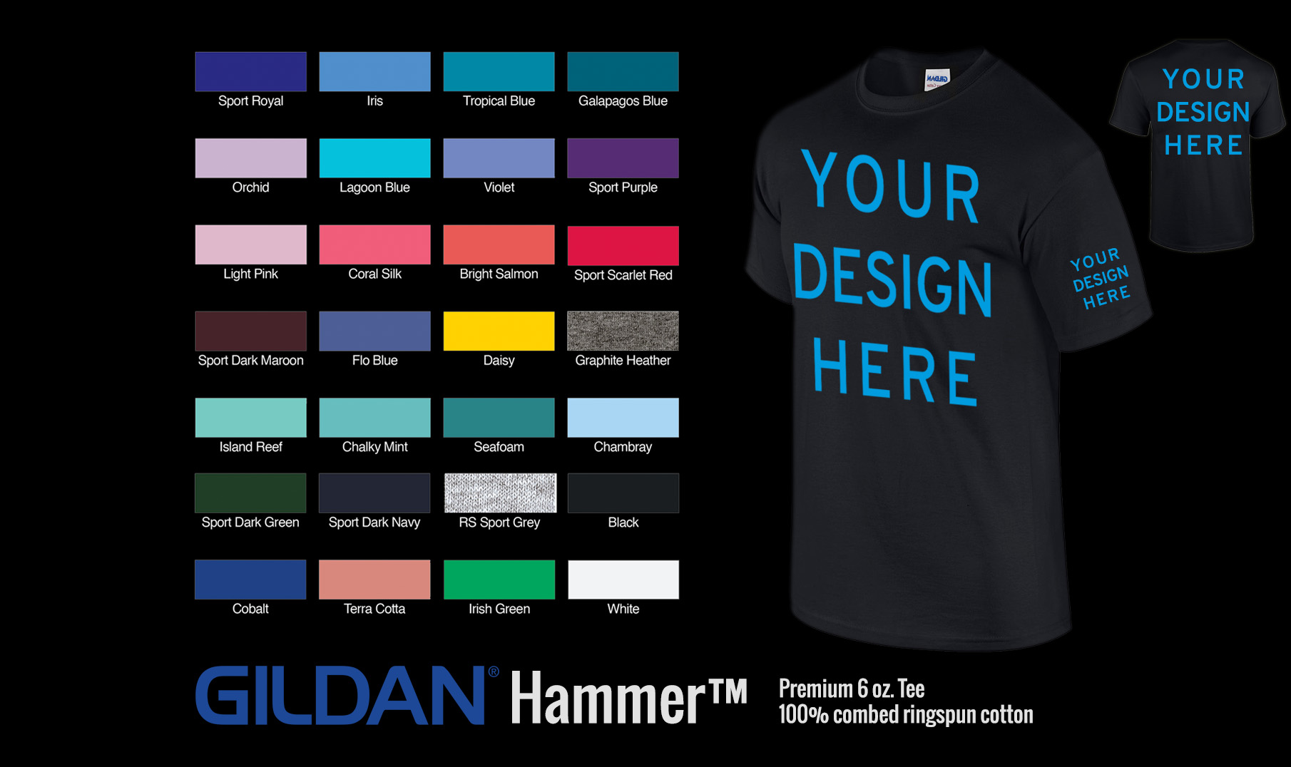 glow in the dark colors for custom clothing and t shirts