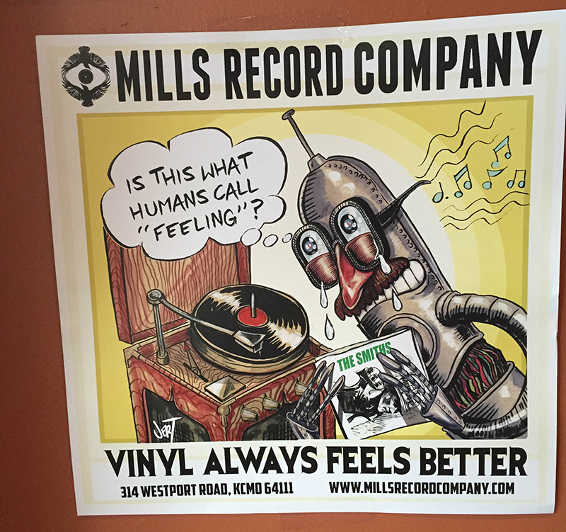 Mills Record Company poster