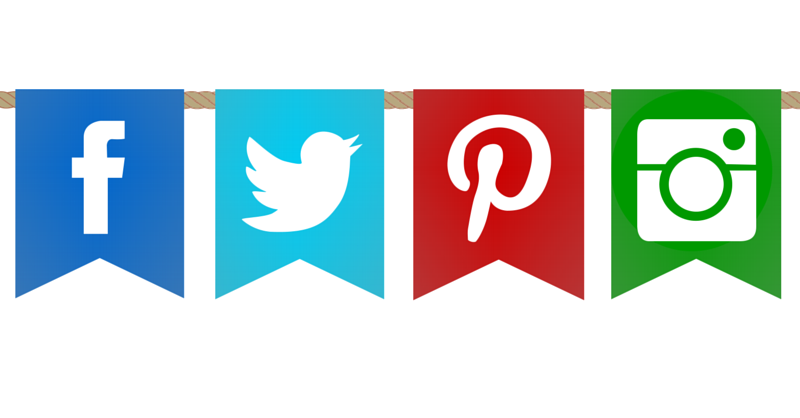 Social Media Icons On Banners
