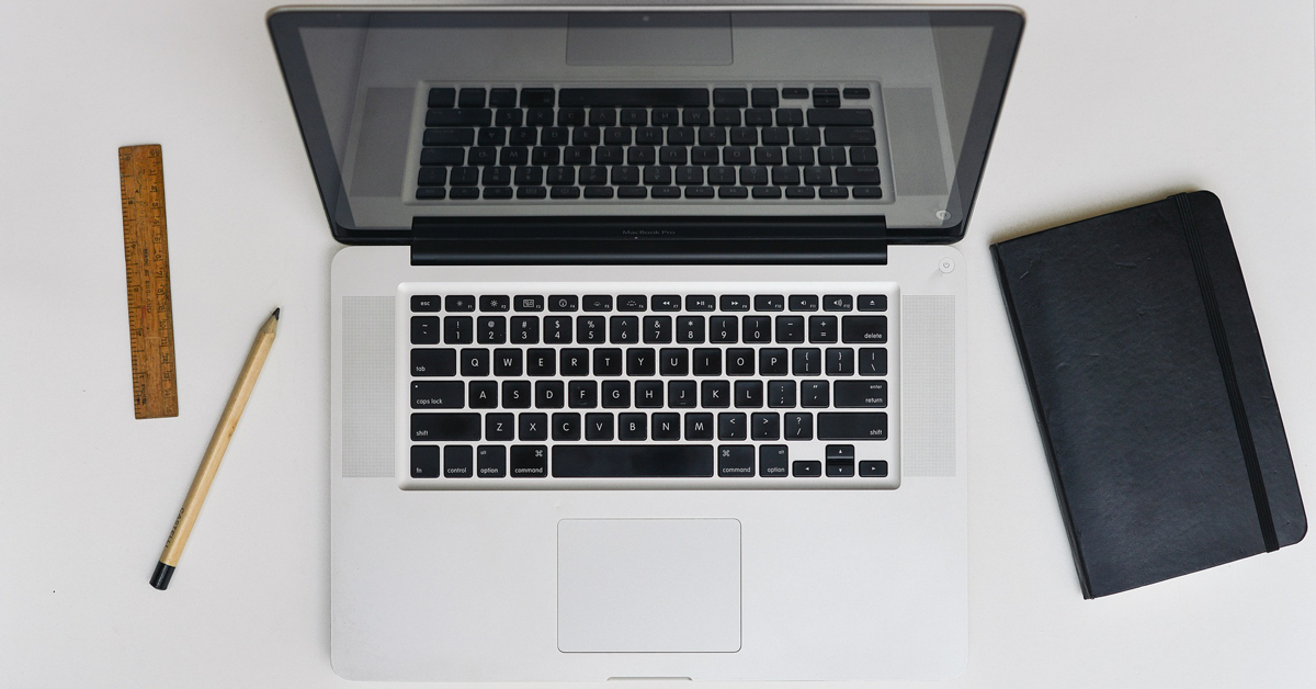 laptop with tools