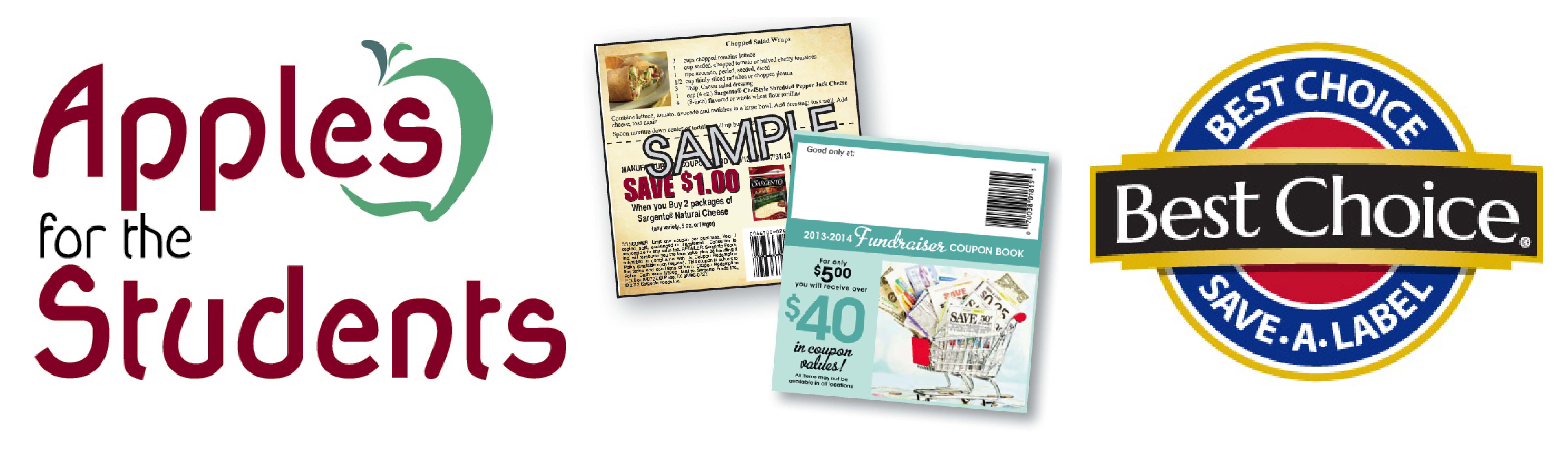 Apples for the Students, coupon fundraier books, Best Choice Save-a-Label