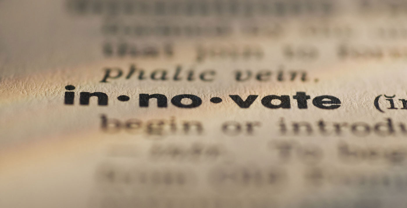 the word innovate listed in dictionary