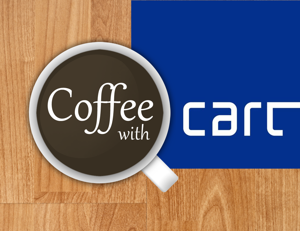 Coffee with Cart Graphic.