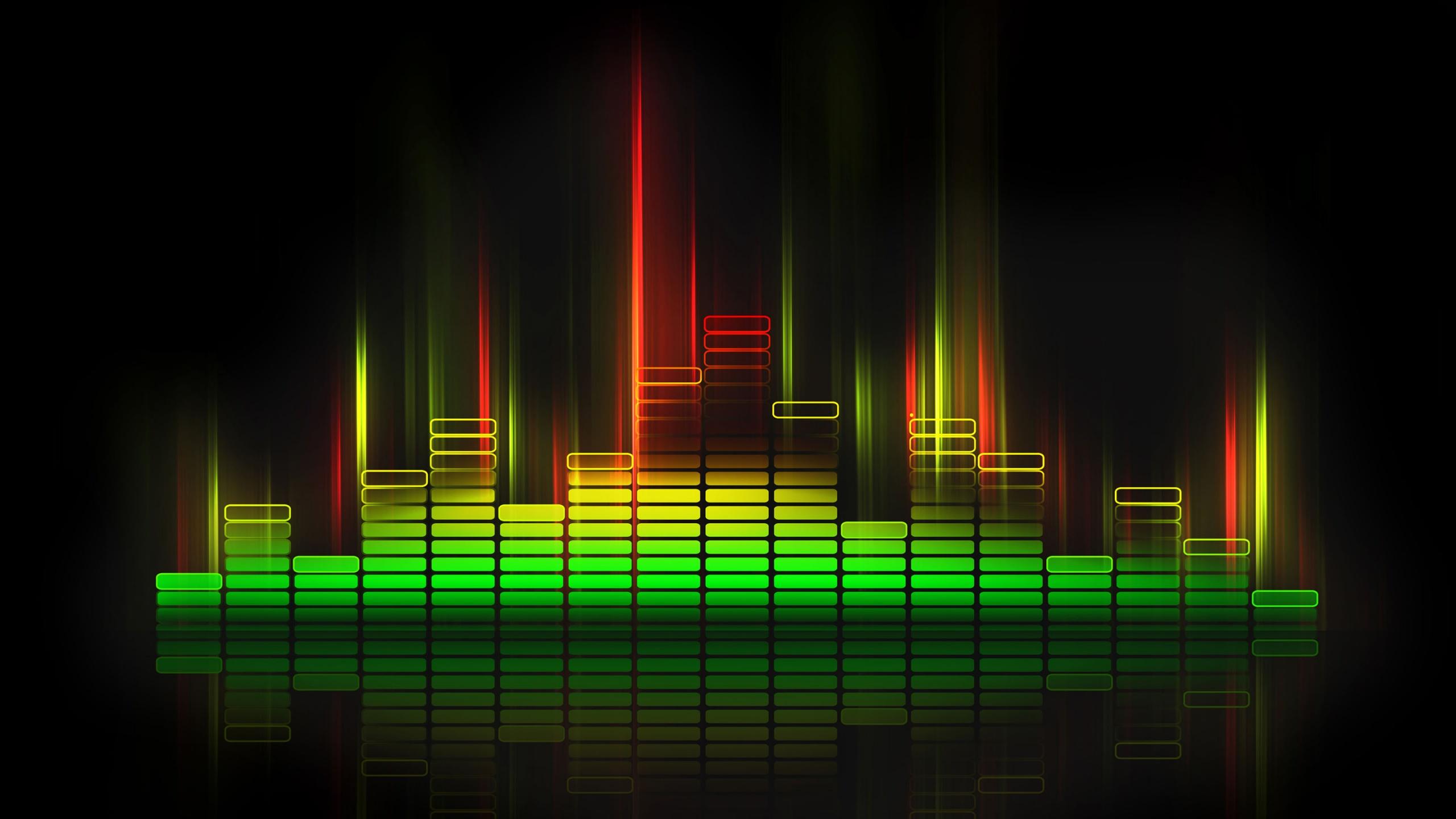 Image of digital sound waves.