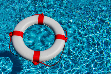 photo of lifesaver in a pool