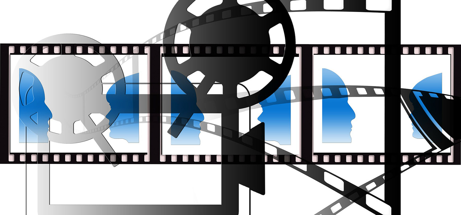 Graphic of film projector and film