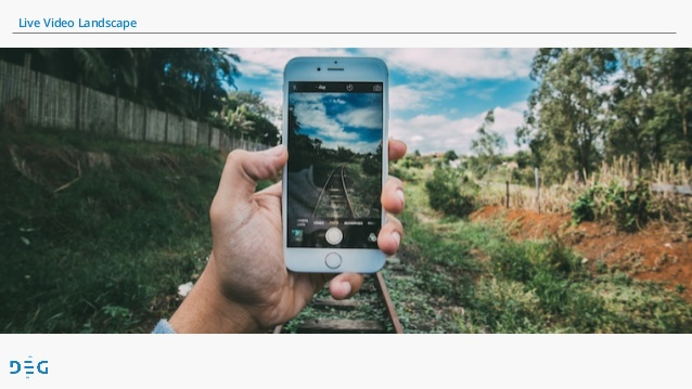 Example of live video streaming using phone of train track