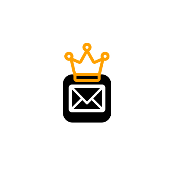 email icon with crown