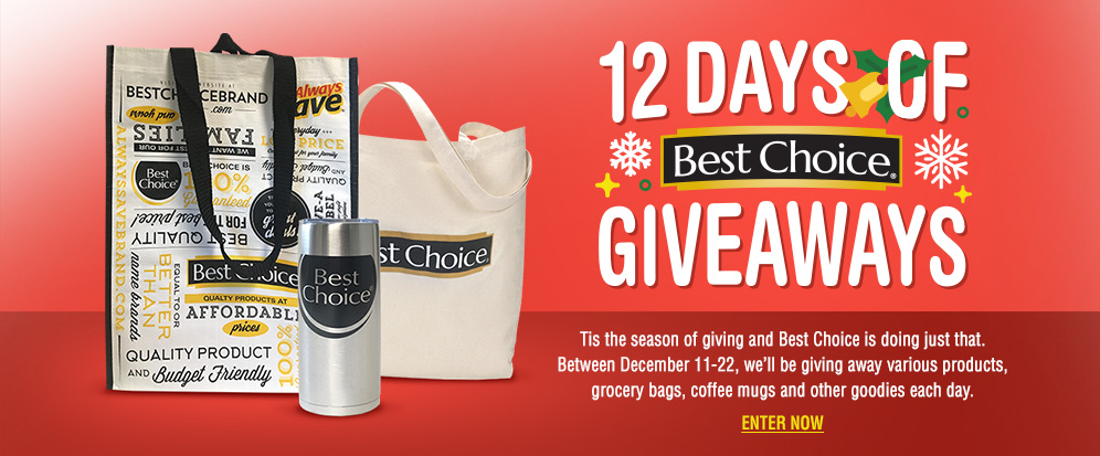 Best Choice 12 Days of Giveaways web graphic.