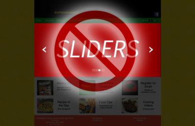 No sliders using graphic symbol